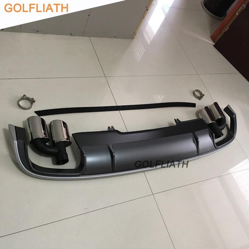 GOLFLIATH S4 Style 리어 디퓨저 립 Kit 범퍼 Skid 판 끝 - 자동차부품 - 사진 1