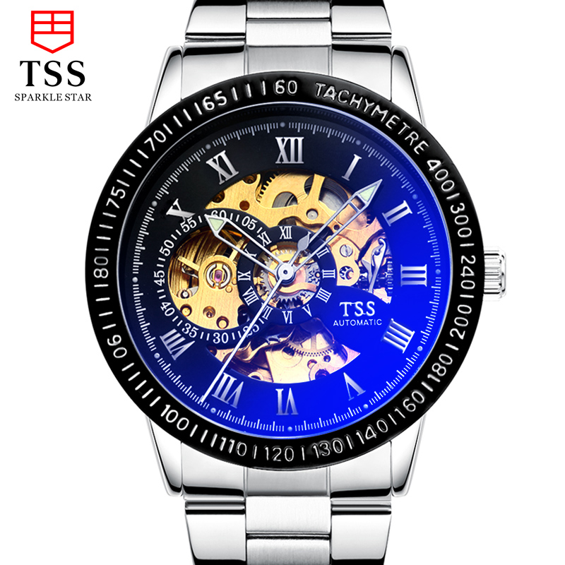 TSS mens watches top brand luxury automatic mechanical Wristwatches Waterproof stainless steel watches