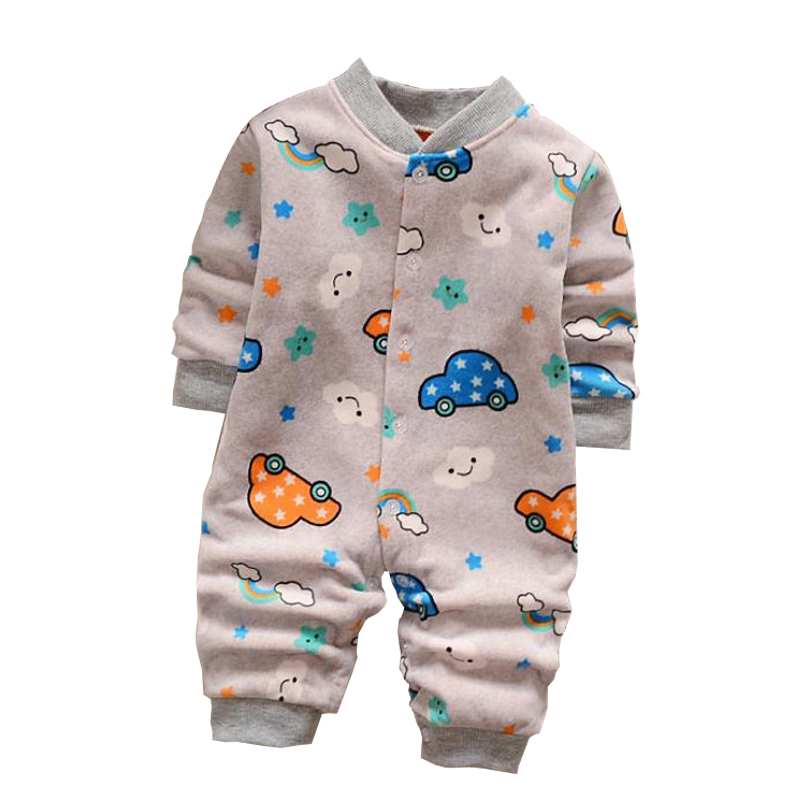 Newborn Clothes Long Sleeve Cashmere Rompers Warm Winter Autumn Wear new Baby Girls boys Clothing Cartoon Infant 12M Jumpsuits hhtu brand baby rompers boys girls clothing quilted long sleeve jumpsuits newborn clothes boneless sewing children cotton winter
