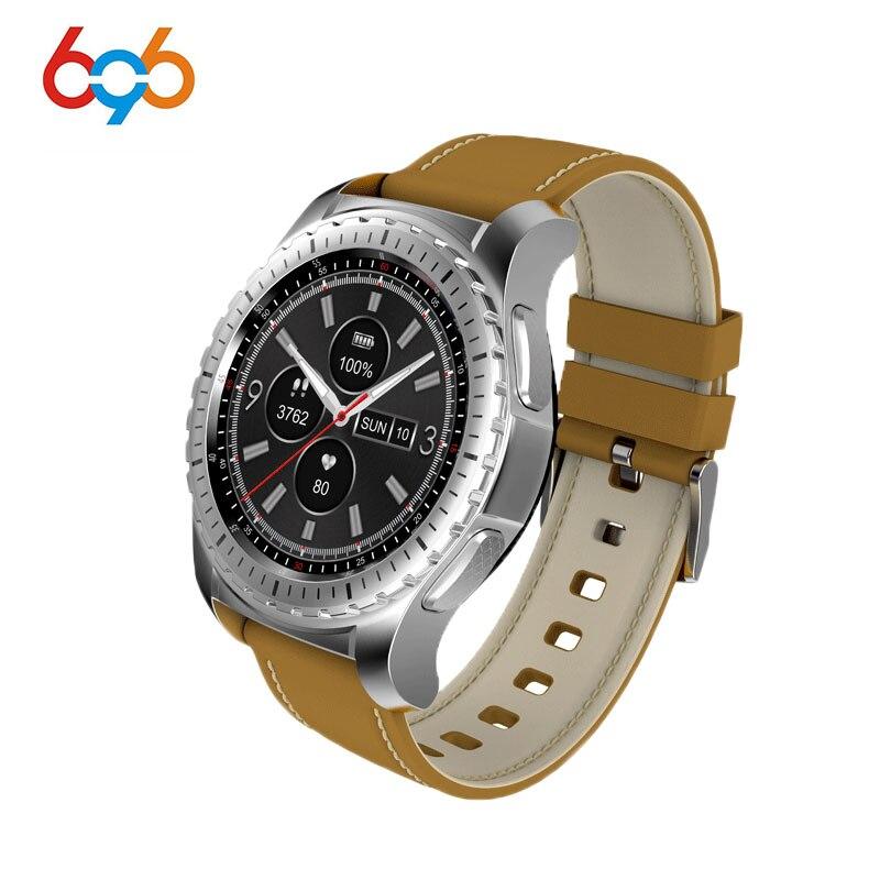 a3056e640f8 696 Telefone Smartwatch Bluetooth Relógio Inteligente 1.3 polegada KW28  Sedentário Monitor de Freqüência Cardíaca Lembrete Anti