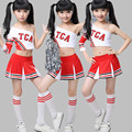 Child Cheerleader Costumes Kids Performance Polyester Dance Performances Stage Uniform