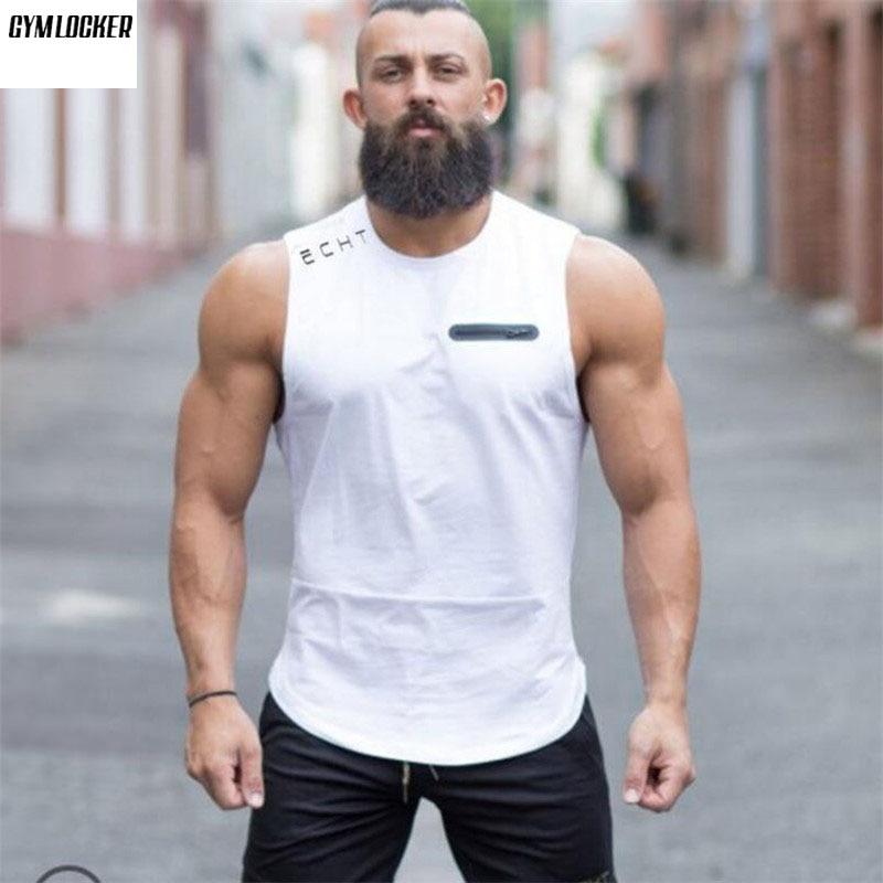 GYMLOCKER Fashion Brand Men's   Tank     Top   Tees Shirts Sleeveless Soft Undershirts Fitness Stringers Men Solid Muscle   tank