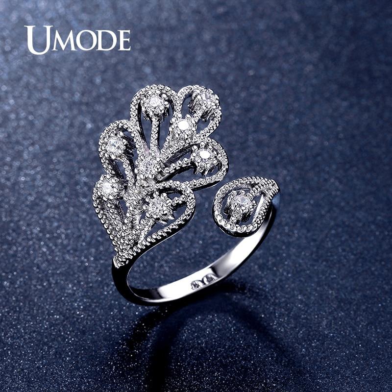 font b UMODE b font Brand New Fashion Women Jewelry Cute Vintage Rhodium plated CZ