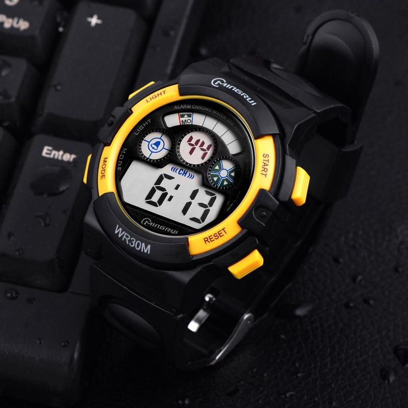 a933de5e79fd MingRui multifuncional al aire libre hombre reloj LED Digital electrónica  reloj adolescentes niño estudiante impermeable relojes deportivos en Relojes  de ...