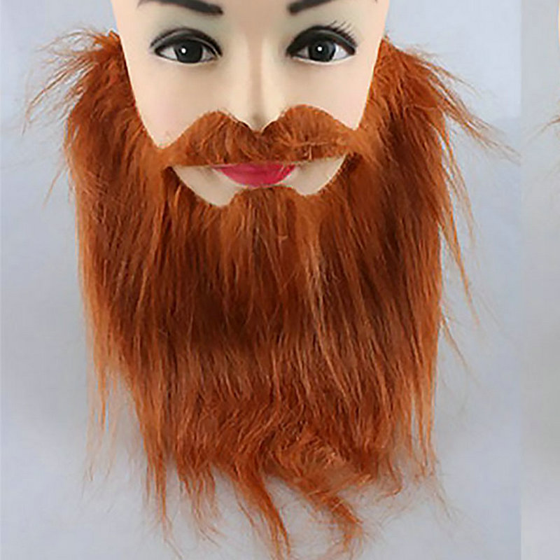 Funny Halloween Costume Fake Beard Artificial Moustache Stick-on Party Whiskers