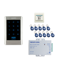 JERUAN FREE SHIPPING New RFIDTouch Keypad Metal RFID Door Entry Access Control Controller Kit + 10 RFID Keys Easy install