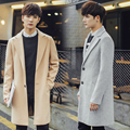 Autumn Winter Wool Jacket Men Long Trench Coat Male Fashion Solid Slim Fit Jackets Overcoats Retro British Style Coats Plus Size