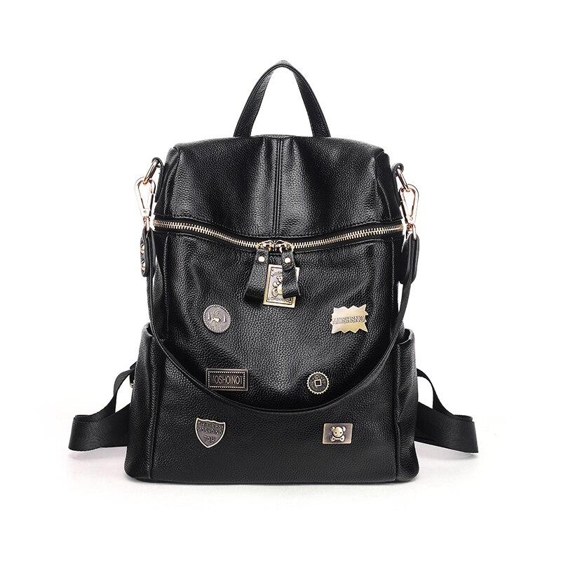 BOSTANTENl noir femmes sac à dos sac de voyage haute qualité sacs à dos hip-hop école Grils sac femme Mochila Mujer drôle sac à dos