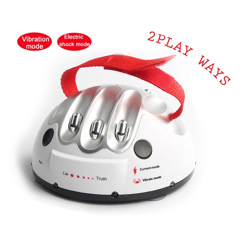Novelty & Gag Toys Polygraph Toy Funny Polygraph Toys Polygraph Test Electric Shock Lie Detector Shocking Liar Truth Dare Game the liar