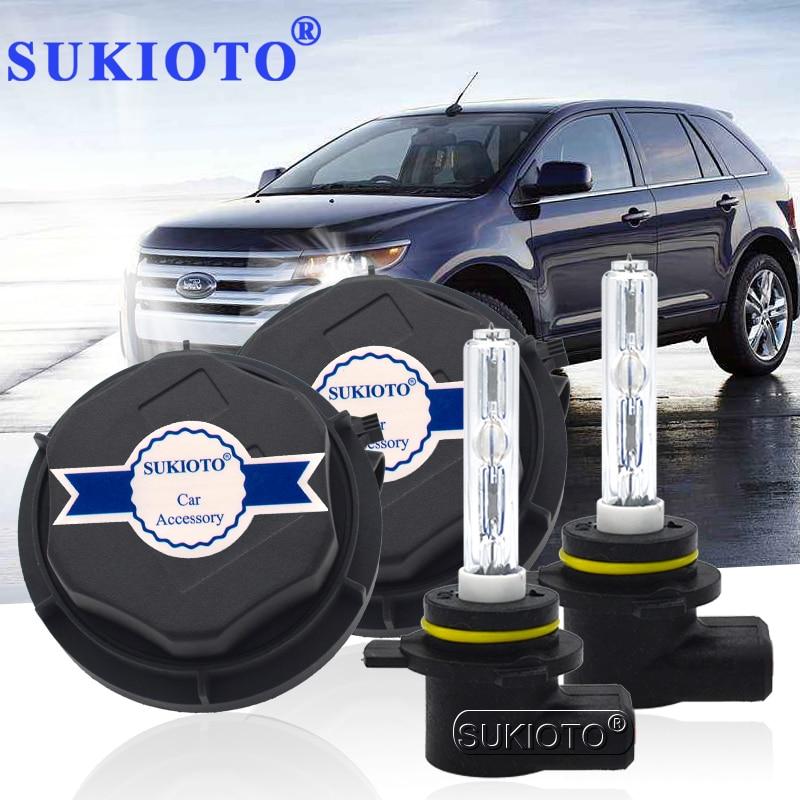 SUKIOTO NO Error 9012 Xenon Headlight 55W 9012 Hir2 xenon bulbs for Edge 2011 2014 bixenon