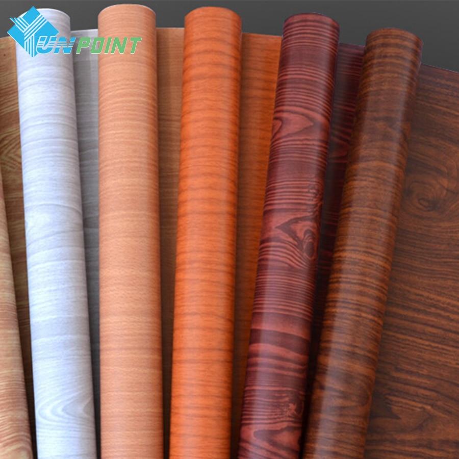 5M/10M PVC Self Adhesive Wallpaper Roll Wood Grain DIY Stickers Modern Home Decor Furniture Wooden Door Desktop Vinyl Wall Paper