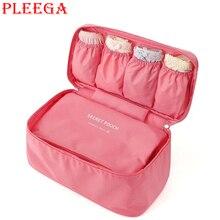 PLEEGA Brand Bra Underwear Suitcase Organizer Travel Bag Women Cosmetic Bag Luggage Makeup  Organizer for Lingerie Portable Bag