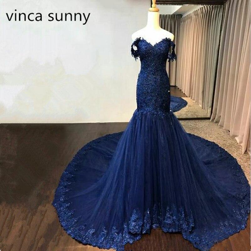 Navy Royal Blue Mermaid Burgundy Evening Dresses Long Womens Sheath Formal Dress Custom Made Elegant Vestido de Noiva-in Evening Dresses from Weddings & Events    1