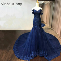 Navy Royal Blue Mermaid Burgundy Evening Dresses Long Womens Sheath Formal Dress Custom Made Elegant Vestido de Noiva