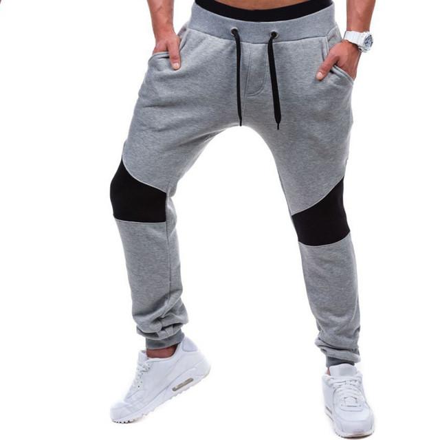 2017 Moda Otoño Invierno Mens Corredores De Algodón Danza Pantalones Casual Slim Fit Largo Pantalones Elegantes
