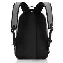 Men's Stylish Capacious Canvas Backpack without Pattern
