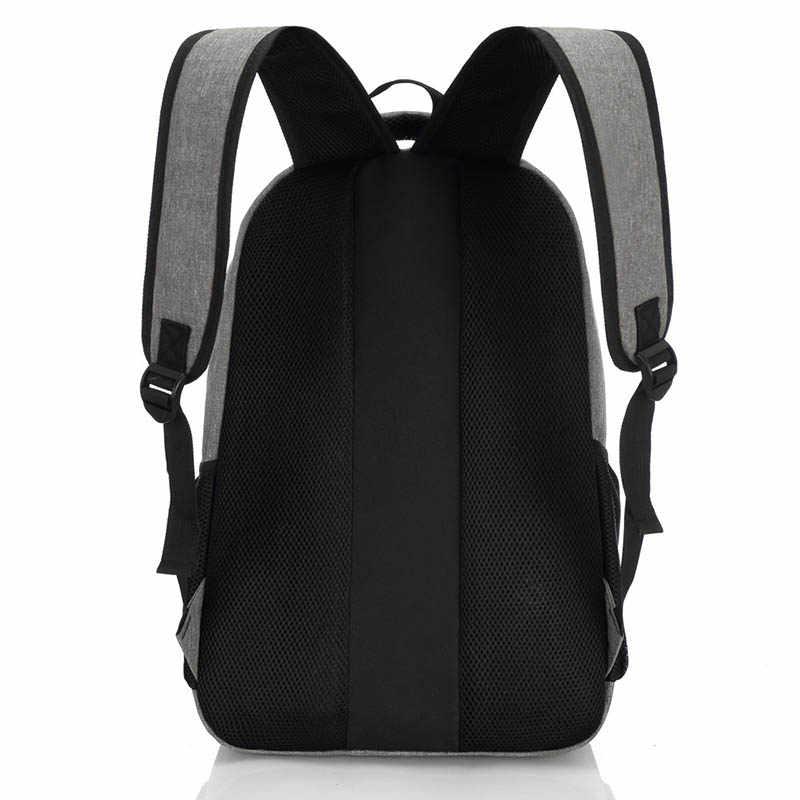 2019 nueva mochila de moda para hombre, mochila de lona para ordenador portátil, mochila para ordenador, mochila para estudiantes de secundaria