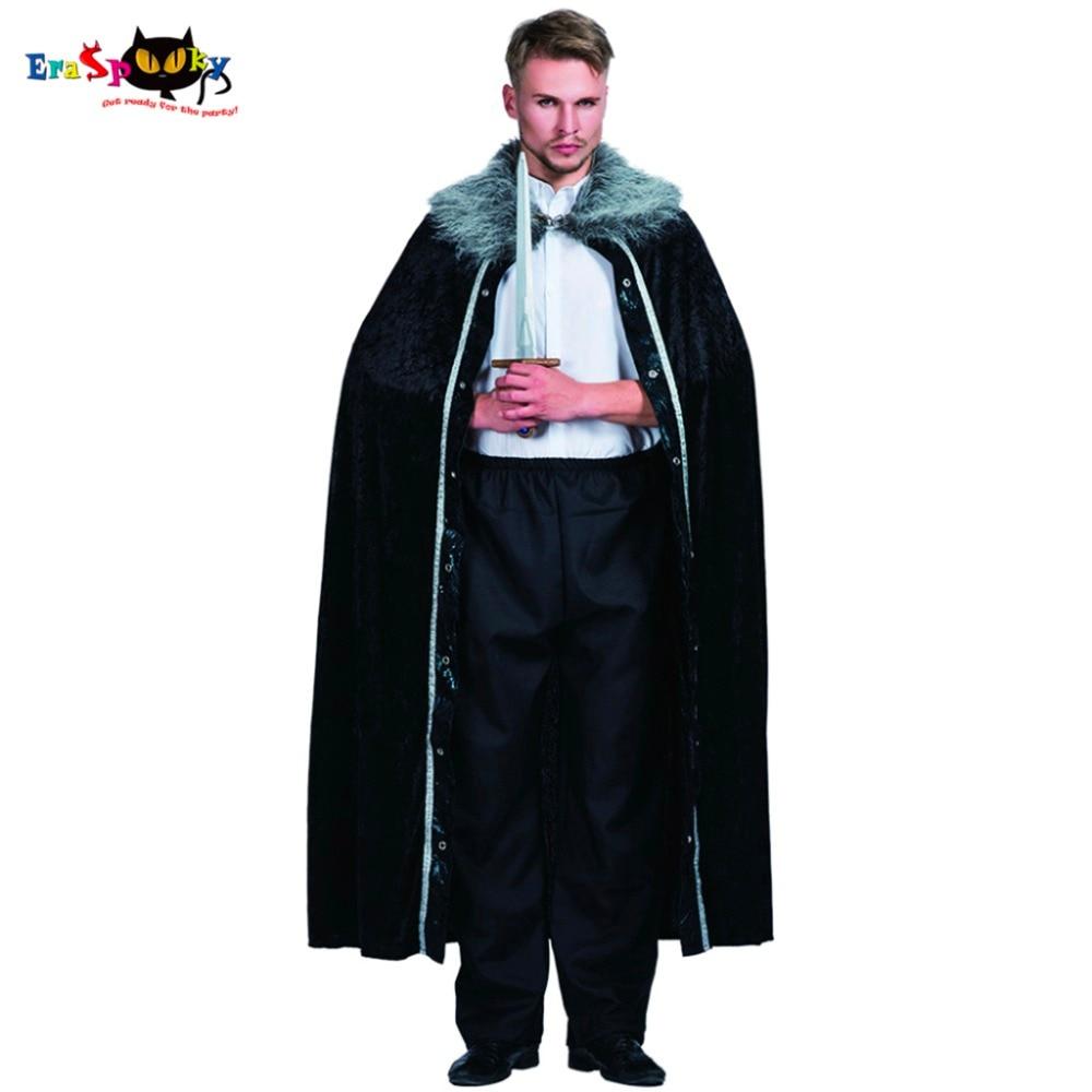 New Winter Men Fur Cloak Final Destination 80s Cosplay Medieval Black Long Oversize Fur Cape Adult Costume Halloween 2017
