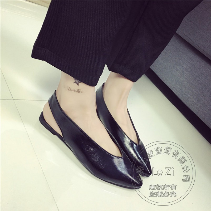 Solid Color Leather Shoes Goddess Deep V Soft Leather Strappy Pu Runway Shoes Shoes font b