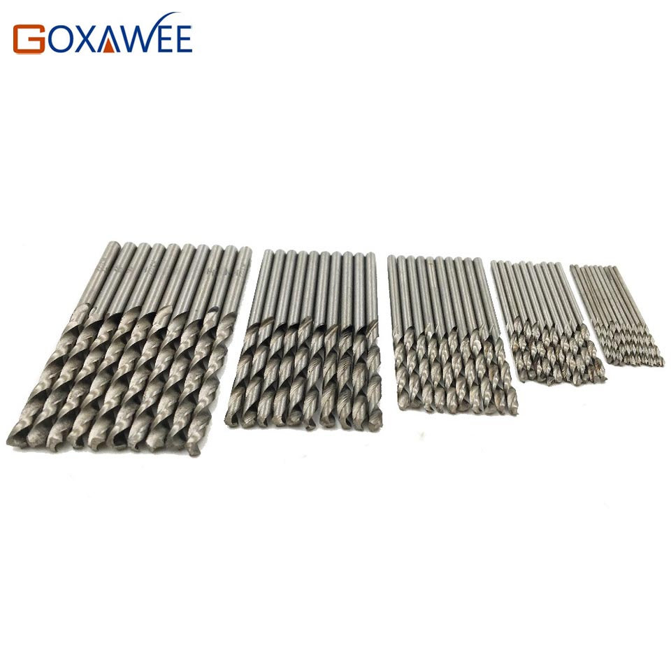 GOXAWEE Twist Drill Bit Set HSS High Stainless Steel Drill Woodworking Wood Tool 0 5 0