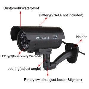 Image 3 - Keeper עמיד למים Dummy מזויף CCTV מצלמה עם מהבהב LED עבור חיצוני או פנימי מציאותי מחפש מזויף מצלמה עבור אבטחה