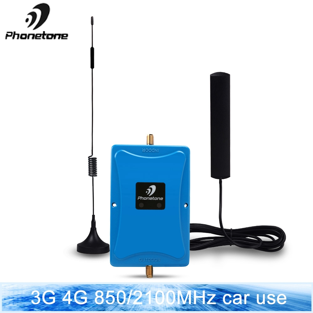 3G 850/2100MHz Dual Band Cellphone Cellular Signal Booster Telstra Network 45dB GSM 850Mhz Signal Repeater Amplifier Set For Car