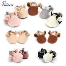 Lamb-Slippers Trainers Crawling-Shoes Prewalker Animal Ears Toddler Newborn-Baby Girl