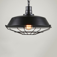 2 colors Lamp Vintage Pendant Rustic Modern Industrial Black Shade E27 26cm Black/Bronze Lighting 10cm Decor Home