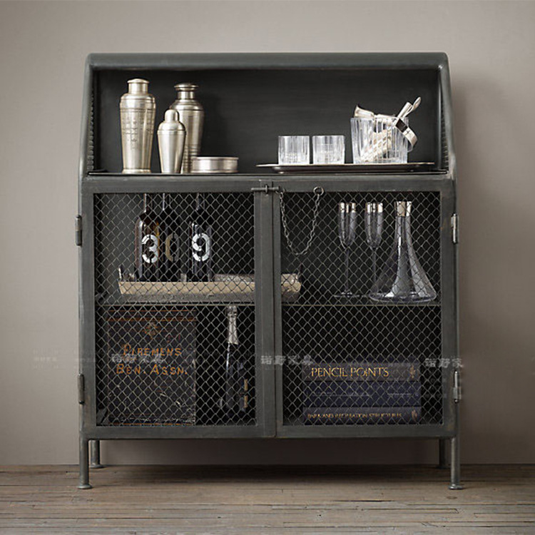 Continental Loft Industrial Wind Do The Old Lockers Retro Furniture  Showcase Industrial Utility Shelves Can Be Customized In Bookcases From  Furniture On ...