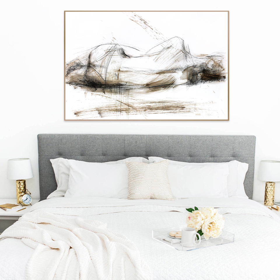 Us 5 74 25 Off Sketch Woman Posters And Prints Bedroom Wall Decoration Art Print Modern Y Female Canvas Painting Framed Decor In