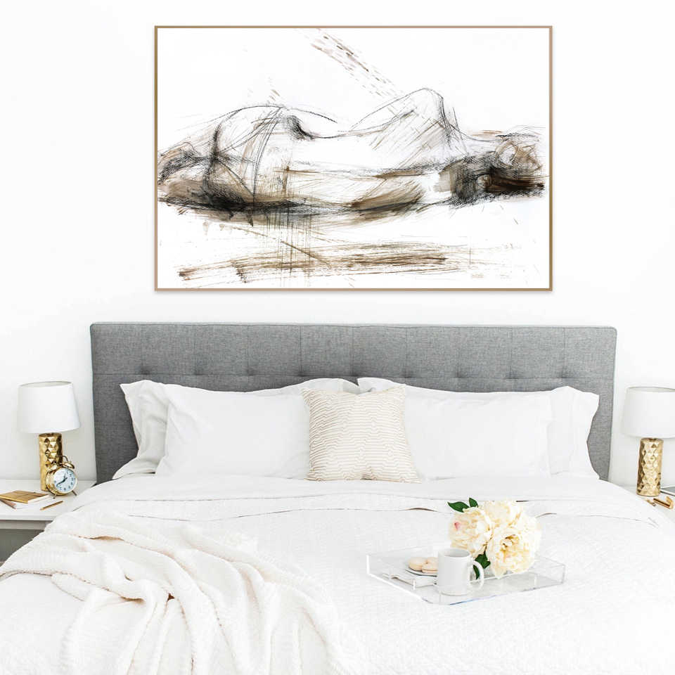 Nude Sketch Woman Posters And Prints Bedroom Wall Decoration Wall Art Print Modern Sexy Female Art Canvas Painting Framed Decor