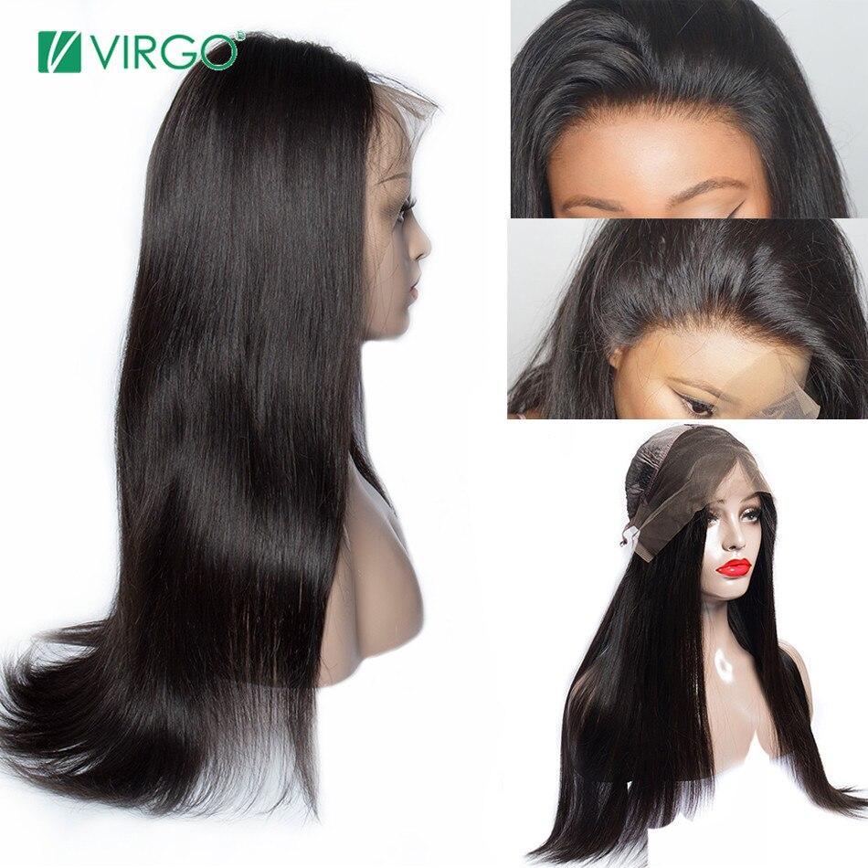 Brésilienne Droite Avant de Lacet cheveux humains Perruques pour les Femmes Noires cheveux remy Avant de Lacet Perruques Avec Bébé Cheveux Pré Pincées Livraison Gratuite