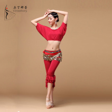 5 Colors Super Quality Practice splicing kit Dance Costume Embroidery Decoration Dance Long Skirt Belly dance Costume SK01147