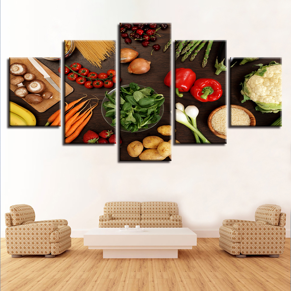 Diy Diamond Embroidery 5pcs Vegetable Mushroom Chili Potato Carrot 5D Diamond Painting Cross Stitch New Needlework
