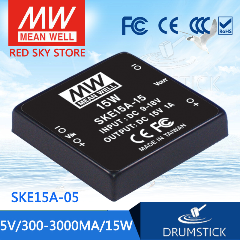 Advantages MEAN WELL original SKE15A-05 5V 3000mA meanwell SKE15 5V 15W DC-DC Regulated Single Output Converter advantages mean well ske15c 12 12v 1250ma meanwell ske15 12v 15w dc dc regulated single output converter