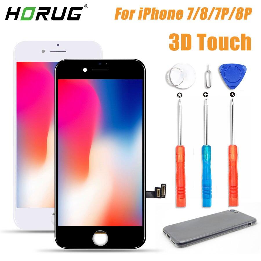 2019 100% aaaa 3d toque tela lcd original para o iphone 7 5S 8 mais display lcd digitador da tela de toque módulo substituição lcds
