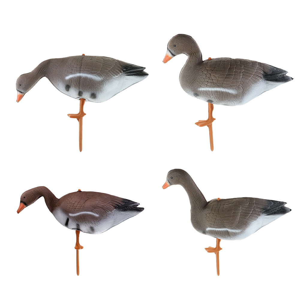 3D Realistic Gear Decoy Stake Plastic Scarer Hunting Floating Female Duck Decoy Goose Garden Lawn Ornaments Crow Bird Scarer