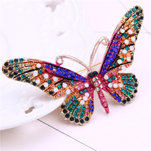 цена на rhinestone insect brooch jewelry cute pins and brooches for women scarf collar pin