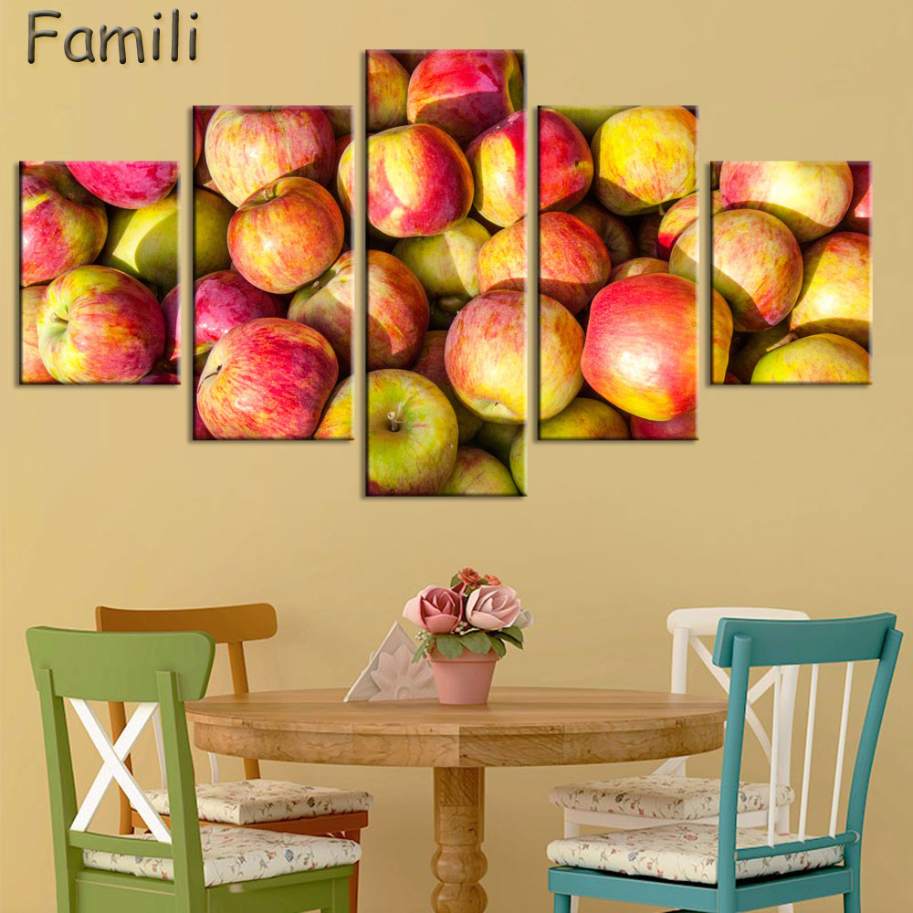Wall Art Canvas Paintings Fruits 5 Panel Dropship Print Home Decor ...
