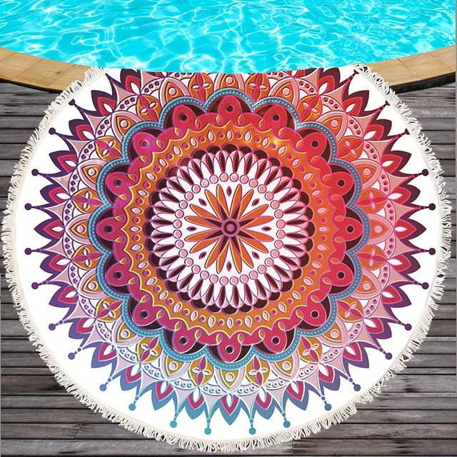 Patchwork Style Microfiber Beach Towel 4