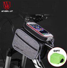 WHEEL UP Cycling MTB Bike Bicycle Bag 6 Waterproof Touch Screen Top Tube Frame Saddle Phone Case Accessories