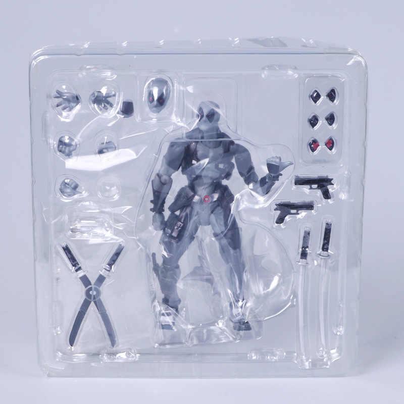 Vingadores Deadpool Figuras Anime Brinquedos Móveis mudança rosto Action Figure Super Hero 15 cm PVC Modelo Toy Boneca com Caixa caçoa o Presente