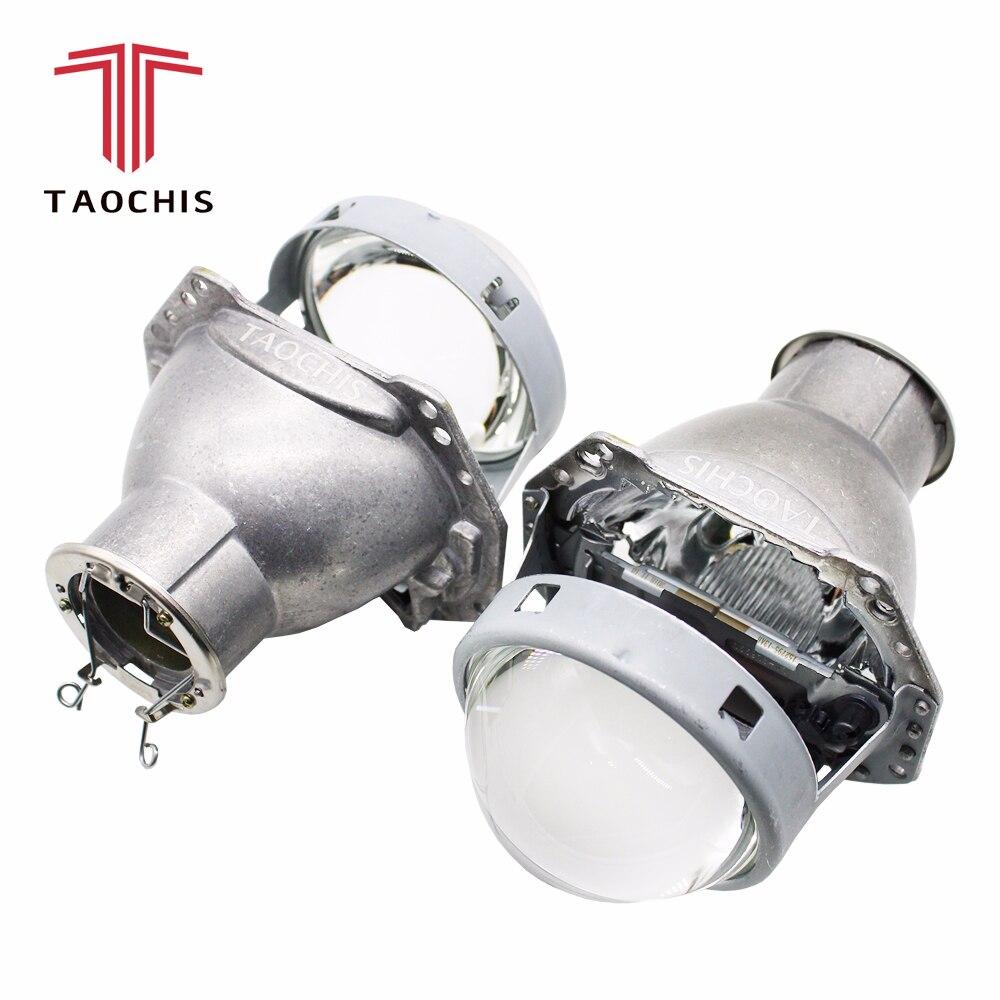 TAOCHIS 3.0 pouces lampe frontale rénovation HELLA 3R G5 objectif de projecteur bi xénon En Utilisant H7 Halogène Projecteur Au Xénon lampes led