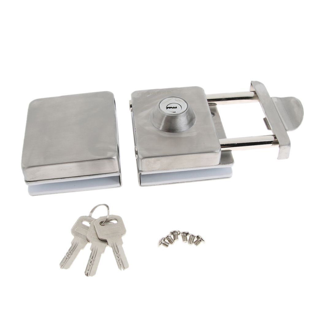 New Stainless Steel Double Glass Door Sliding Door Lock with Handle No Punching Easy to Install 10mm-12mmNew Stainless Steel Double Glass Door Sliding Door Lock with Handle No Punching Easy to Install 10mm-12mm