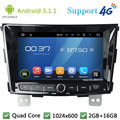 "Quad Core 8 ""1024*600 2Din Android 5.1.1 Автомобильный Dvd-видео Плеер Радио Экран FM DAB + 3 Г/4 Г WIFI GPS Для SsangYong Tivolan 2014"
