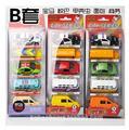 Aleación GUERRERO 1: 64 modelo de coche de juguete brinquedos de metal tire barrowload coches del mundo 5 Unids/set combinación de juguete para niños regalo