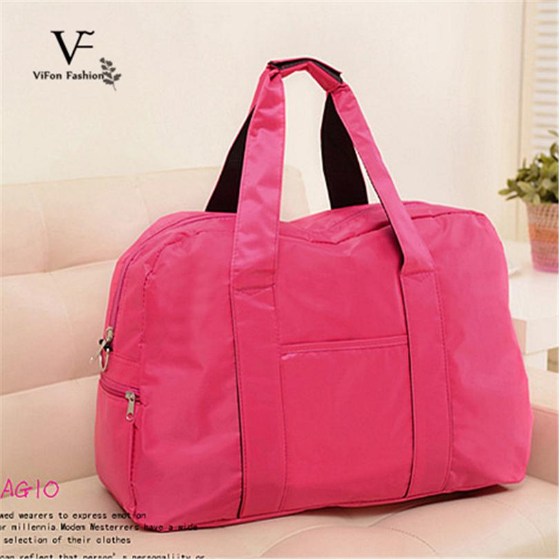 affca909ad44f Nylon impermeable hombro bolsos de viaje bolsas multifuncionales bolsas de  deporte Gimnasio traning tenis de viaje bolsas de las mujeres de color  sólido