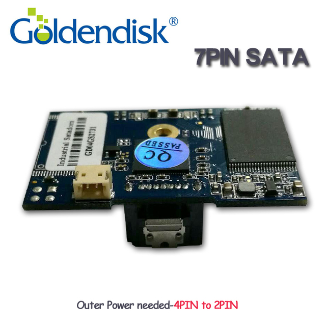 Goldendisk 7PIN SATA DOM 4GB 2 Locataion holes Disk on Module multi capacity up to 64GB NAND MLC DOM SSD