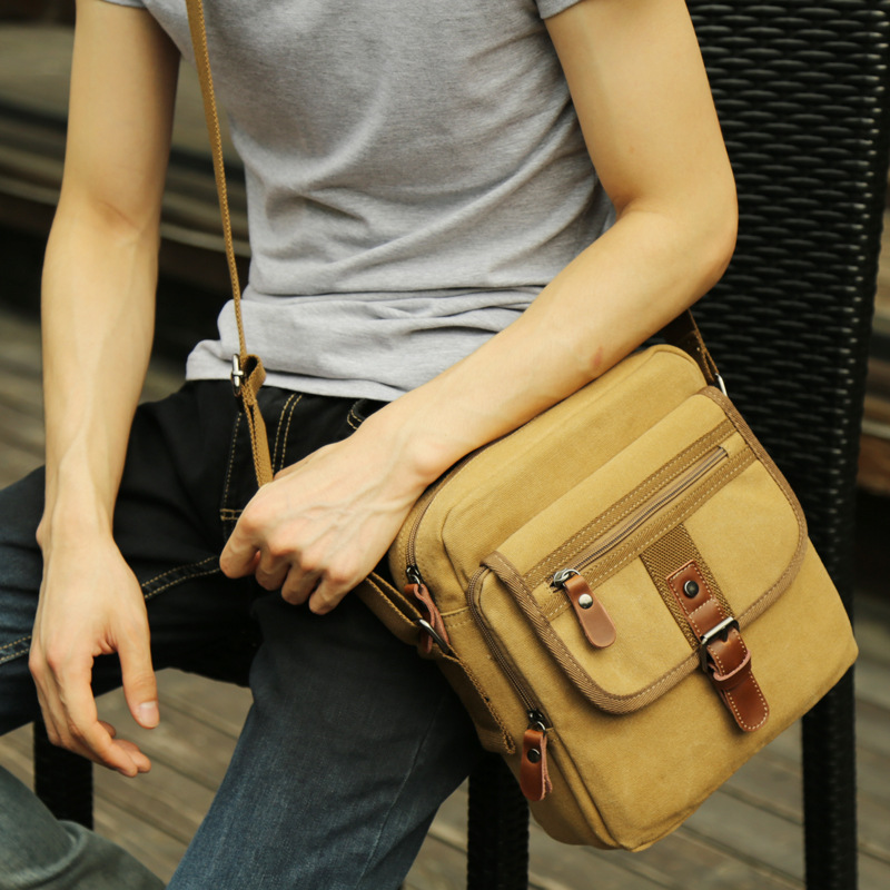 Canvas Bags Multifunction Crossbody Bag Retro Handbags Travel Shoulder Messenger Bags Leisure Package