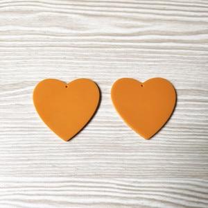 Image 5 - جديد وصول! 49x50 مللي متر 50 قطعة الاكريليك القلب شكل السحر ل أقراط اكسسوارات ، أجزاء القرط ، صنع المجوهرات